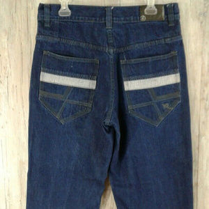 Rocawear Mens Tag Size 36 Baggy Dark Wash Jeans